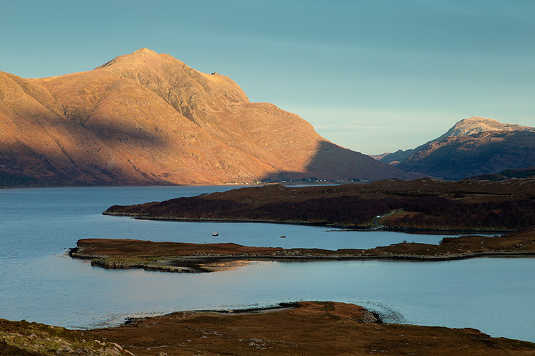 View across Upper Loch Torridon to Liathach, Wester Ross, Scotland