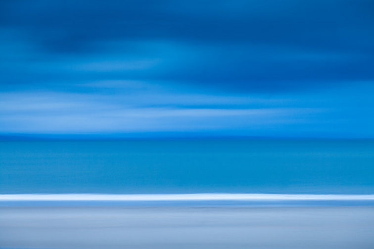 Impression of beach, sea and sky