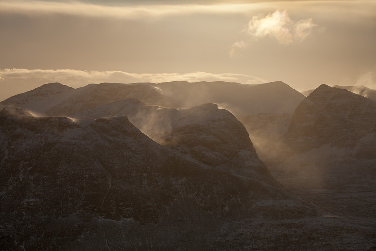 Ben More Coigach in winter, Wester Ross, North-west Scotland, December